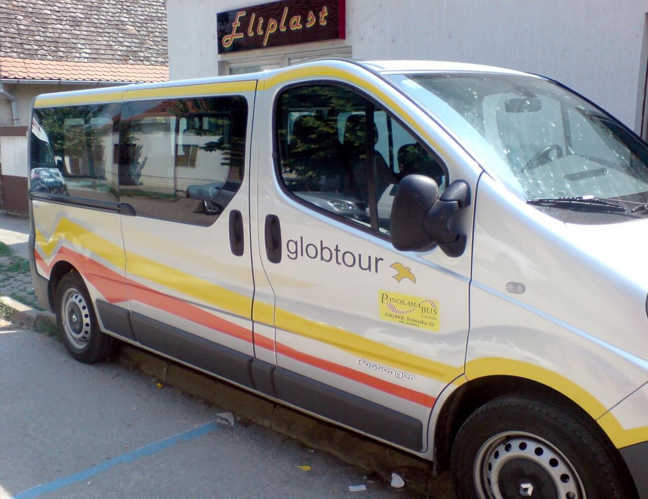 eliplast reklame oslikavanje vozila globtour kombi